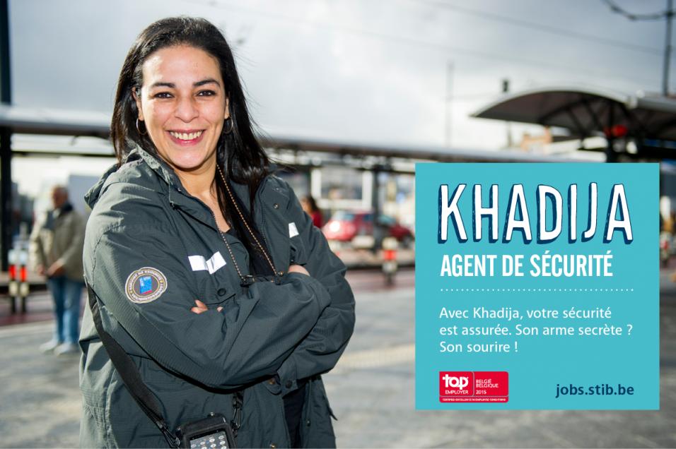 Khadija agent de sécurité