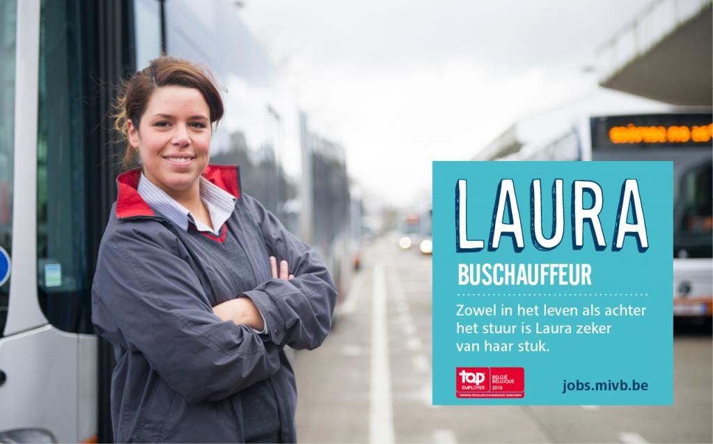 Laura getuigde ook al op onze blog. Ja, ze rijdt ook met grote bussen.