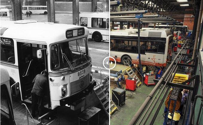 La STIB sans limites : 60 ans séparent ces photos