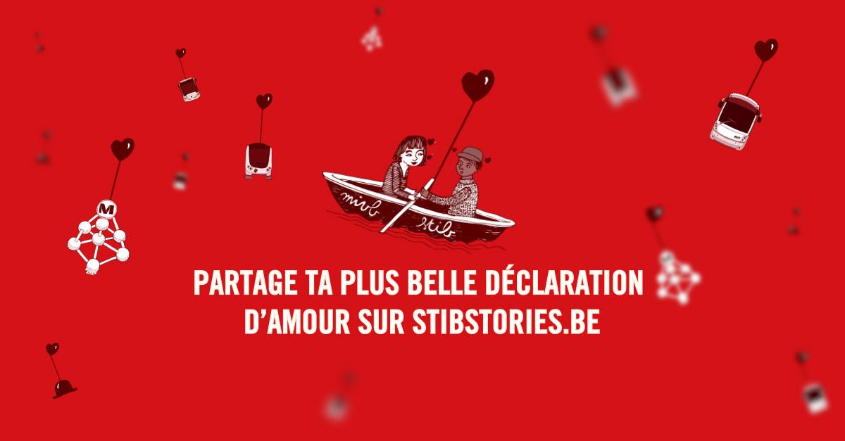 Déclarez votre flamme avec la STIB pour la Saint-Valentin