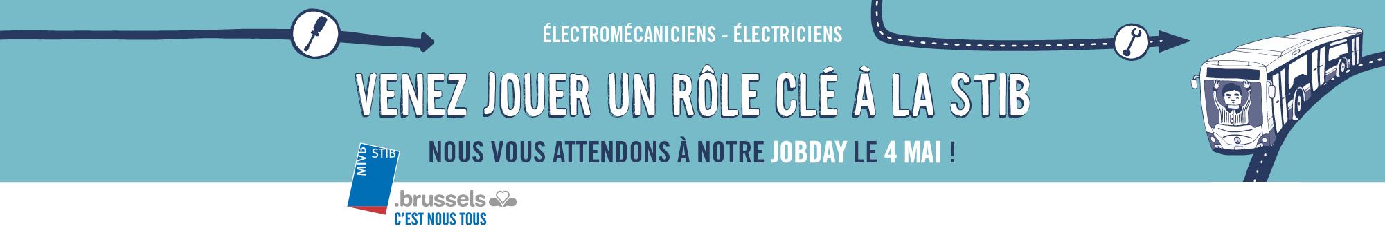 jobday stib emploi électromécanicien