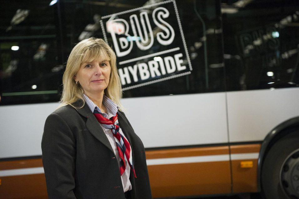 Michèle, chauffeuse de bus à la STIB