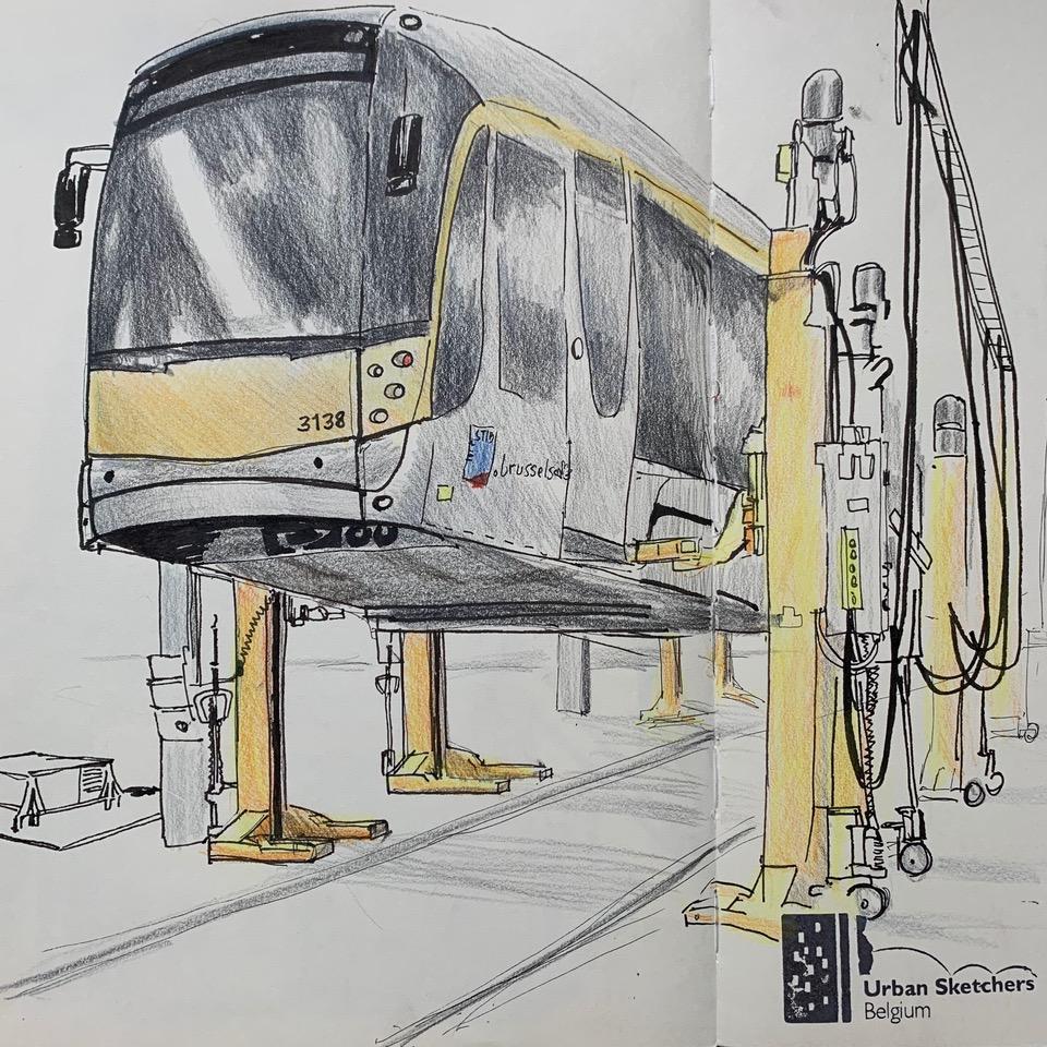 satu burke urban sketchers belgium